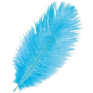 Plume d'autruche - Bleu turquoise