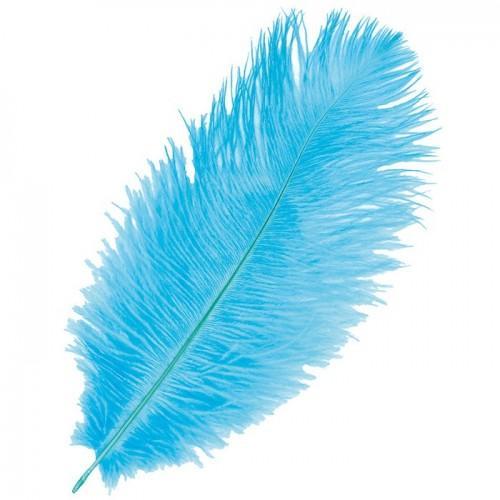 plume d 39 autruche bleu turquoise pour scrapbooking youdoit. Black Bedroom Furniture Sets. Home Design Ideas