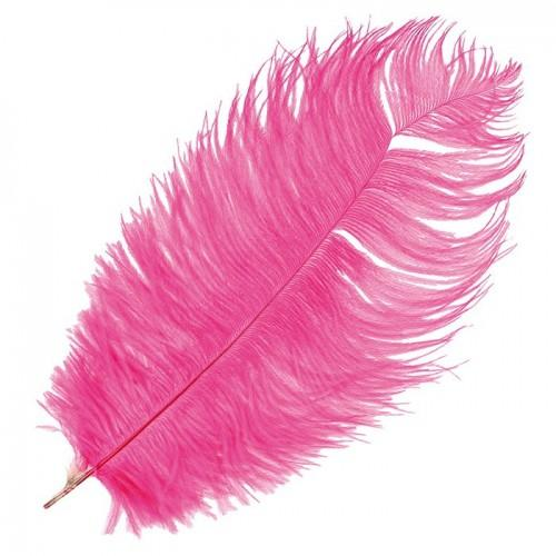 Ostrich feather - Fuchsia