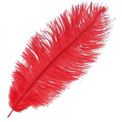 Ostrich feather - Red