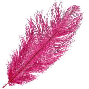 Ostrich feather - Carmine red