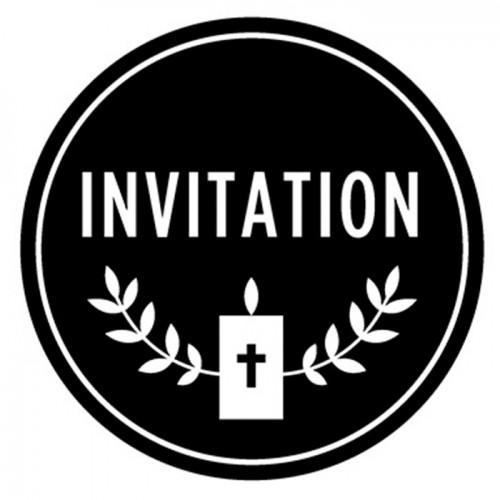 Tampon bois - Communion invitation