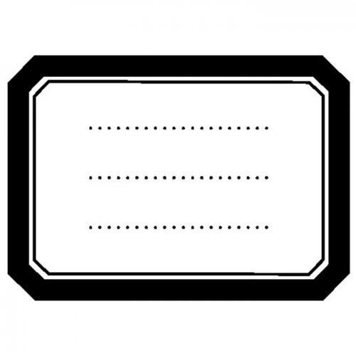 Tampon bois - Etiquette