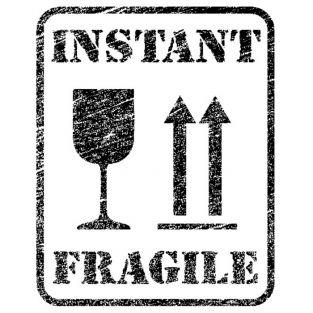 Wood stamp - Instant fragile