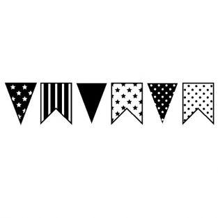 Wood stamp - Pennants