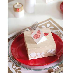Clear stamp - Geometric Heart & acrylic block