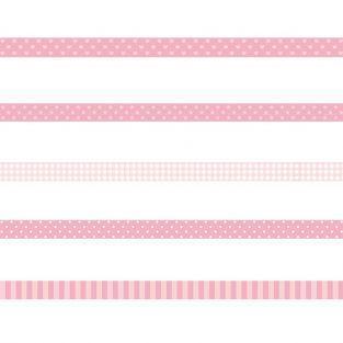 5 Masking Tapes - Rose à motifs
