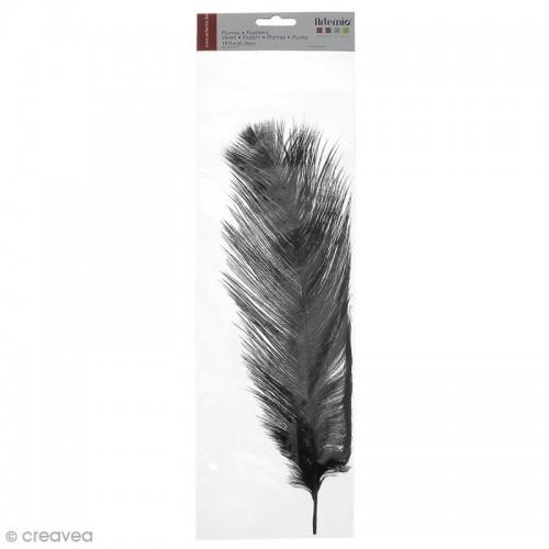 Ostrich feather - Black