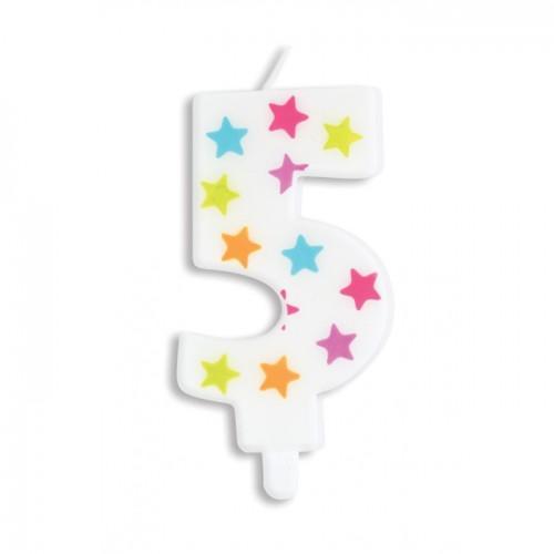 Vela de cumpleaños número 5