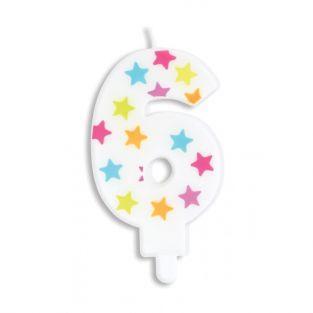 Geburtstagskerze Nummer 6