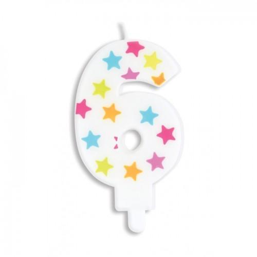 Vela de cumpleaños número 6