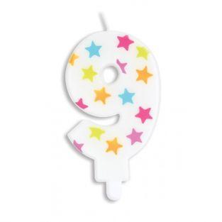 Geburtstagskerze Nummer 9