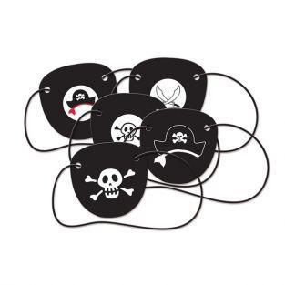 5 cache-œil Pirate en carton