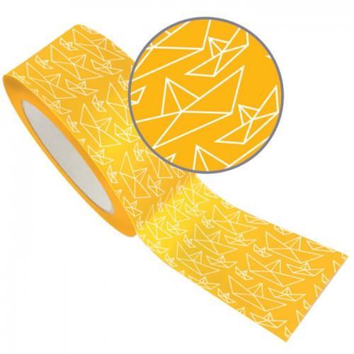 Masking Tape XL jaune 4,8 cm x 8 m - Bateau origami