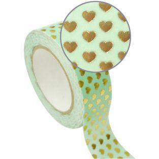 Masking Tape vert 1,5 cm x 10 m -...