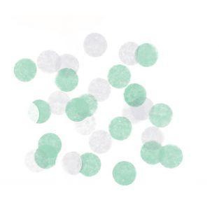 Konfetti - weiß-grün