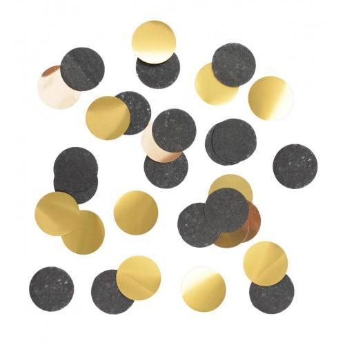 Confeti - negro y oro