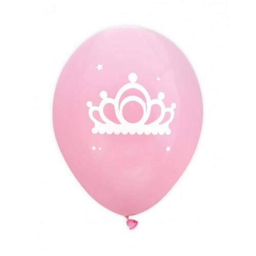 6 globos Ø 25 cm - Princesa