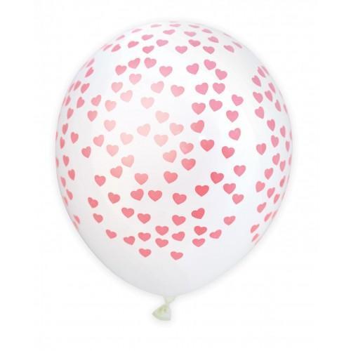 6 balloons Ø 25 cm - Hearts