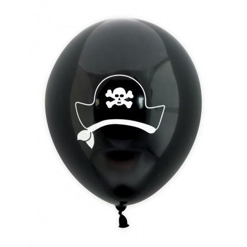 6 ballons de baudruche gonflables Ø 25 cm - Pirate
