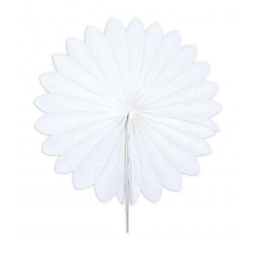 3 Mini paper rosettes Ø 15 cm - white