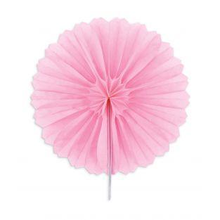 3 mini rosetones de papel Ø 15 cm - rosa