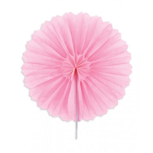 3 Mini paper rosettes Ø 15 cm - pink
