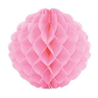 Boule alvéolée rose Ø 25 cm