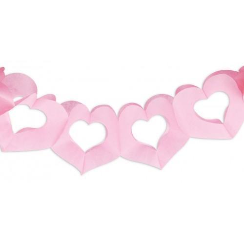 Guirnalda corazones rosa