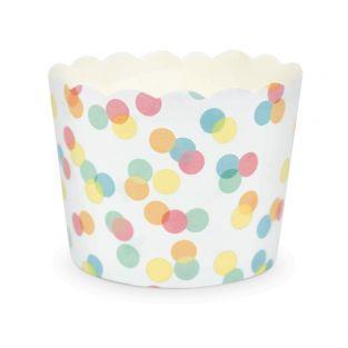 25 Cupcakes Backförmchen - Confetti