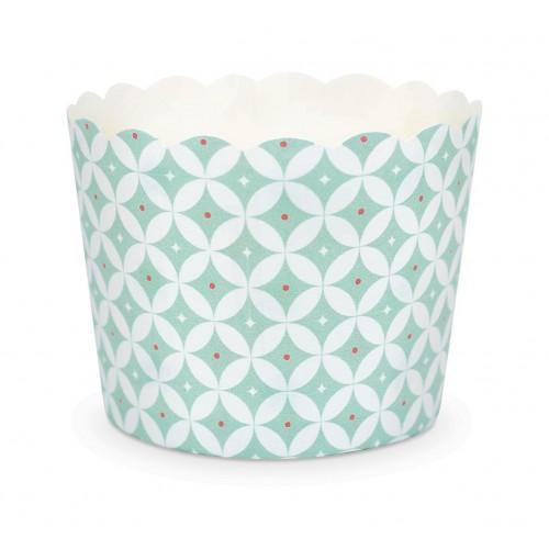 25 Moldes de papel para Cupcakes - Rosetones