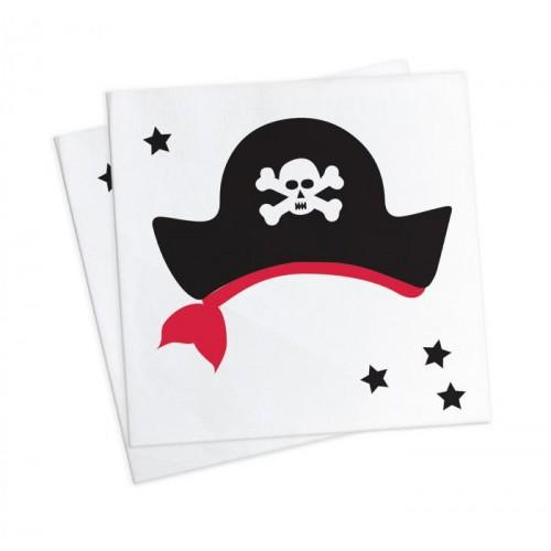 20 serviettes 25 x 25 cm - Pirate