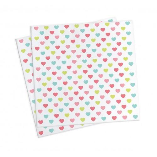 20 toallas de papel 25 x 25 cm - princesa