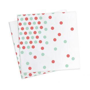 20 toallas de papel 33 x 33 cm - confeti