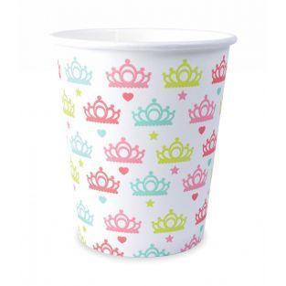8 gobelets cartonnés 25 cl - Princesse