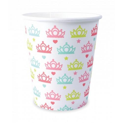 8 vasos de papel 25 cl - 25 cl - princesa