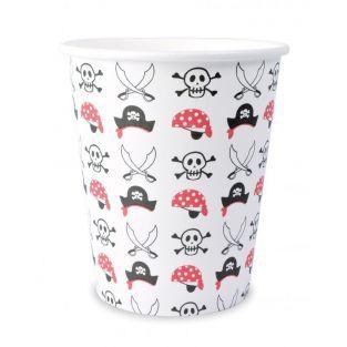 8 paper cups 25 cl - Pirate