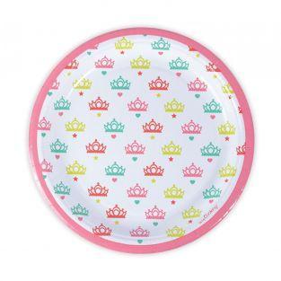 8 piatti di carta Ø 23 cm - principesse