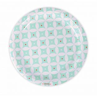 8 piatti di carta Ø 23 cm - Rosette