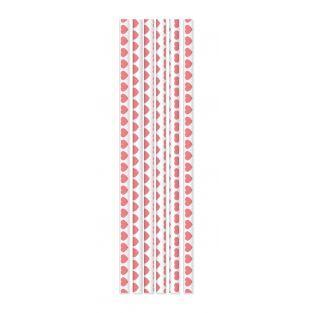 20 Papierstrohe - rosa Herzen