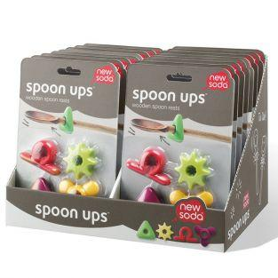 4 colored spoon holders