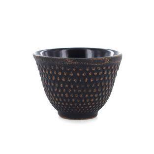 Gusseisen tasse - schwarz & lila