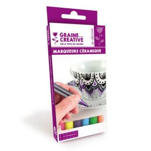 6 ceramic markers - bright...
