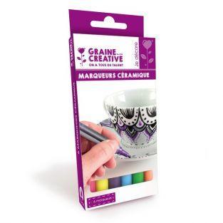 6 Keramik Marker - helle Farben