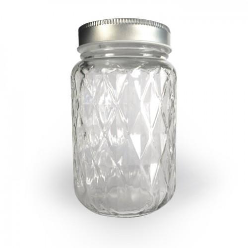 Taza Mason Jar con cubierta 37,5 cl - Diamante