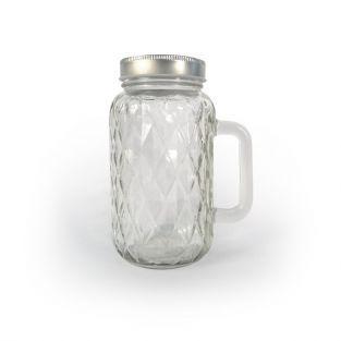 Taza Mason Jar con cubierta y manija...
