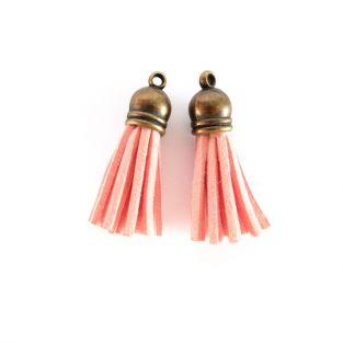 2 suede Tassels 4 m - Orange