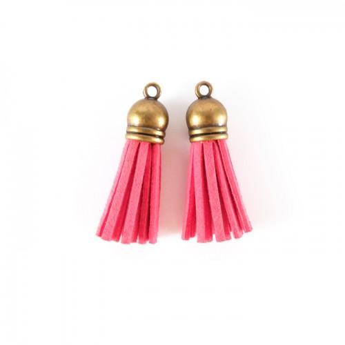 2 suede Tassels 4 m - Pink