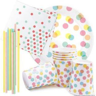 Crockery birthday kit Confetti Party