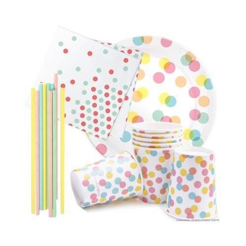 Kit anniversaire vaisselle Confettis Party
